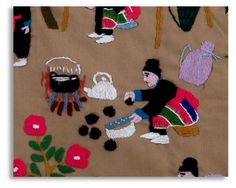 Hmong paj ntaub - Hmong village life in Laos - detail