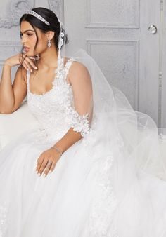 Plus Size Wedding Dresses: Julietta Collection | Morilee Mori Lee Wedding Gowns, Plus Size Wedding Gowns, Bridal Wedding Dresses, Designer Wedding Dresses, Lace Ball Gowns, Tulle Ball Gown, Samantha Wedding, Tulle Balls, A Line Gown