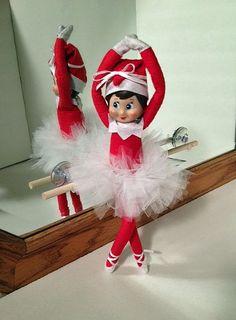 How cute! Ballerina Elf (with tutu tutorial)   Elf on the Shelf ideas on organizedCHAOSonline #elfontheshelf #elfideas: