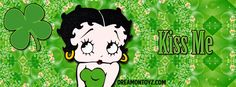 Betty Boop Facebook Timeline Covers with Names: St. Patrick's Day - To request your name on this banner, go to: http://bettyboopfacebook.blogspot.com/2014/03/st-patricks-day-betty-boop-with.html #Irish