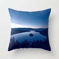 Emerald Bay Throw Pillow by untitledgallery Down Pillows, Throw Pillows, Poplin Fabric, Pillow Inserts, Hand Sewing, It Is Finished, Zipper, Stylish, Room