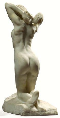 Auguste Rodin, The Kneeling Female Faun on ArtStack #auguste-rodin #art