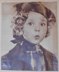 1936 Shirley Temple Hat and Scarf pose