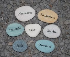 I will place stones like this along my labyrinth's path for inspiration...