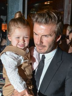 David Beckham takes Harper to Lunch with Victoria Beckham in NYC after her fashion show on September 8, 2013.