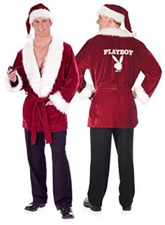6e051a0b875c5 Hugh Hefner costume Hefs Holiday Christmas Red Smoking Jacket XL Pipe Hat     Check out