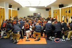 Da Bears locker room. I've been in there!!! Unfortunately, the team wasn't there too.