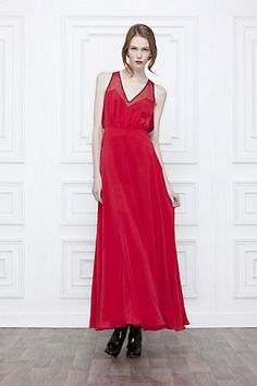 Flame-Borne Maxi Dress - I would LOVE to have this dress! Gorgeous red!