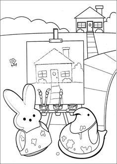 Dibujos para Colorear. Dibujos para Pintar. Dibujos para imprimir y colorear online. Marshmallow Peeps 7