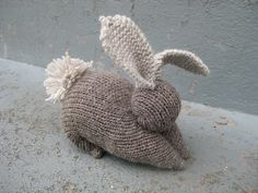 bunny made from knit square
