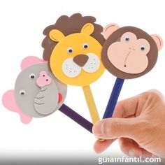 This is a guide about making stick puppets. Kids love making and playing with puppets. Easy Crafts For Kids, Diy For Kids, Diy And Crafts, Arts And Crafts, Paper Crafts, Craft Activities, Preschool Crafts, Toddler Activities, Popsicle Stick Crafts