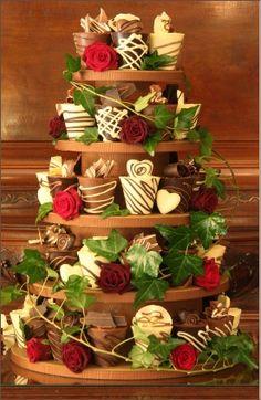 Triple Chocolate Madness Miniature Wedding Cakes