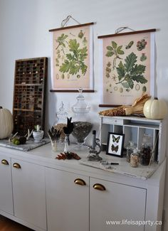 Fall Home Tour -Rustic Neutral Fall Home Tour with lots of natural elements to bring the outdoors in and celebrate the changing season.