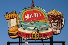 Mr D'z Route 66 Diner, Kingman, Arizona by spixpix, via Flickr
