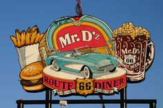 Mr D'z Route 66 Diner, Kingman, Arizona by spixpix, via Flickr