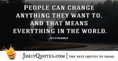 Quote About Success - Joe Strummer