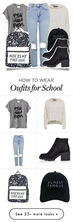 """school style"" by madeinmalaysia on Polyvore featuring Sincerely, Jules, Nasaseasons, Topshop and River Island"