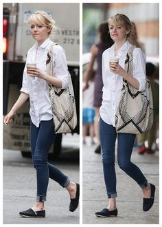Emma Stone MiH Jeans AG Jeans Cynthia Vincent Toms best jeans for women fashion celebrity style