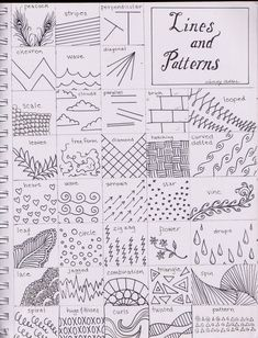 To Draw: Zentangle inspiration [Teaching art] Middle School Art, Art School, High School, Classe D'art, Art Handouts, Art Worksheets, Ecole Art, Zentangle Patterns, Doodle Patterns