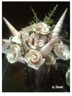hand made Seashell flowers ~by Shante