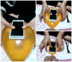 Turn a balloon into a smartphone case
