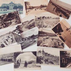 ➸ Trier le lot de cartes postales vierges chinées pour le prochain mariage ➸
