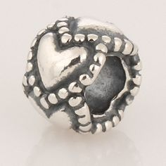 Antique Solid Sterling 925 Silver Charms Beads [Everlasting Love] Fit European Bracelets,Symbol Bead, Forever Love, Heart By Heart by TaoTaoHas on Etsy