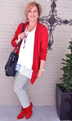 50 Is Not Old | Looking Your Best | Stripes | Black & White | Red