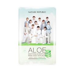 Made in Korean Not Have Alcohol Nature Republic Sheet Mask EXO Face Mask Moisturizing Oil Control Whitening Facial Mask Moisturizing Face Mask, Face Cleanser, Scrub Face Wash, Facial For Oily Skin, Deep Cleansing Facial, Pimples On Face, Whitening Cream For Face, Nature Republic, Aloe