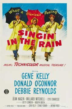 Vintage Poster - Singin' in the Rain - Musical - Movie - Theatre. Best Movie Ever!!!!!!!!!