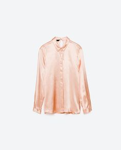 Image 8 of SATEEN BLOUSE WITH BACK DETAIL from Zara