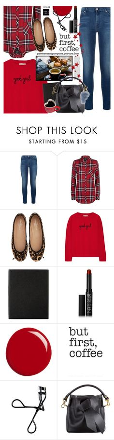 """Sundays / Jose Finas Leopard Print Luanda Ballet Flats"" by palmtreesandpompoms ❤ liked on Polyvore featuring 7 For All Mankind, Rails, Chinti and Parker, Smythson, NARS Cosmetics, Gucci, Retrò, Bobbi Brown Cosmetics and josefinas"