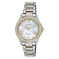 Share your fashionable point of view starting with this hip watch with 64 Swarovski crystals on the two-tone stainless steel case. A sleek pink two-tone stainless steel bracelet and a white Mother-of-Pearl dial dotted with 12 Swarovski crystals. Stainless Steel Bracelet, Stainless Steel Case, Swarovski Watches, Elegant Watches, Beautiful Watches, Beautiful Ladies, Quartz Watch, Watch Bands, Bracelet Watch
