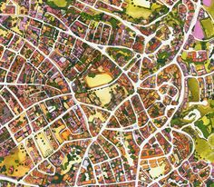 Illustrated Map of Paphos District by Abigail Daker, via Behance