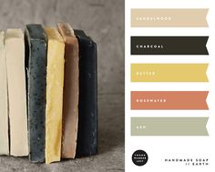 handmade soap color palette
