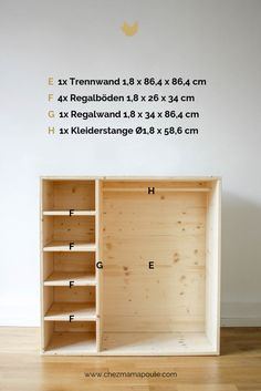 DIY furniture: wardrobe for children, this wood needs to make furniture itself and set up a Montessori nursery. DIY furniture: wardrobe for children, this wood needs to make furniture itself and set up a Montessori nursery.