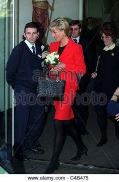February 5, 1997: Diana, Princess of Wales visiting St. Johns Wood Hospice, London.