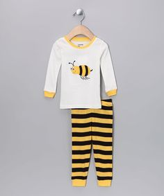 Look at this #zulilyfind! Black & Yellow Bumblebee Pajama Set - Infant, Toddler & Girls #zulilyfinds