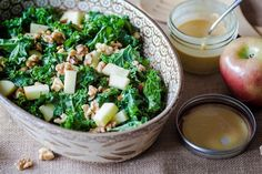 New Year's Resolution Recipe: Crunchy Miso Kale Salad with Apples & Walnuts