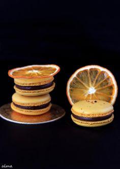 Orange Praline macarons