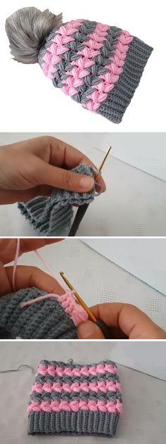 Trendy knitting for beginners hats fall 20 ideas Crochet Baby Cardigan, Crochet Beanie, Crochet Yarn, Free Crochet, Loom Knitting, Knitting Patterns Free, Knit Patterns, Baby Knitting, Beginner Knit Scarf