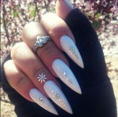 nails, stilettos, and cute image