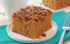 Healthy #Pumpkin Coffee Cake? YES, please!! Perfect for our Silver Palate Oats! @hungrygirl