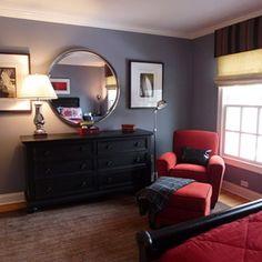 48 Cool Teenage Boy Room Decor Ideas for A Hard-to-please Boy - Home-dsgn Boy Decor, Boys Room Decor, Kids Bedroom, Bedroom Decor, Bedroom Wall, Bedroom Ideas, Master Bedroom, Teen Boy Bedding, Red Bedding