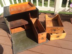 WWII Army Field Desk with Drawers USA 1940's Beals