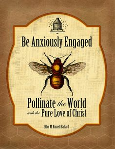 Be Anxiously Engaged: Pollinate the World with the Pure Love of Christ - another awesome idea and printable from hangaribbononthemoon