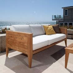 7 pc Craftsman Lounge Set is defined by its understated, bold clean lines and handsome transitional appeal in solid teak. Includes one Craftsman Teak Sofa and two Craftsman Armchairs. Teak Outdoor Furniture, Outside Furniture, Lounge Furniture, Outdoor Sofa, Furniture Design, Contract Furniture, Diy Furniture, Outdoor Living, Gardens