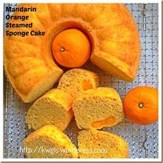 Why Not Use Your Mandarin Oranges To Prepare Some Breakfast? –Mandarin Orange Steamed Sponge Cake (芦柑鸡蛋糕) | GUAI SHU SHU