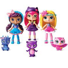 "Amazon.com: Little Charmers Best Friends 3pk, 3"" Posie, Hazel, and Lavender Dolls: Toys & Games"