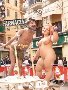 Adam and Eve. Fallas 2010 Valencia